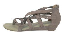 Women's Casual Block Ankle Straps Faux Suede Sandals & Beach Shoes