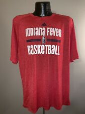 Men's Adidas Climalite Indiana Fever WNBA Basketball Polyester Short-Sleeve Tee