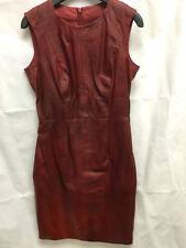 Muubaa Heiden mulberry/bourgogne ombre cuir verni robe. rrp £ 420. uk 8.