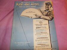 1935-1951 ANCO WIPER ARMS,MOTORS&BLADES SALES&SERVICE MANUAL! SUPER INFORMATION