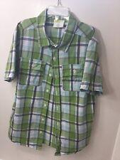 Boys Size 7-8 Short Sleeve Plaid Shirt Crazy 8 Gently Worn