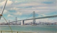 OLD Chrome Postcard CA F648 San Francisco Golden Gate Bridge Union Oil Company