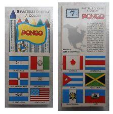 6 pastelli a cera vintage Adica Pongo bandiere America del Nord e centrale