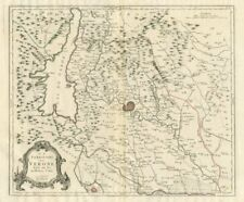 """Le Territoire de Verone"". Verona Veneto Italy. SANTINI 1784 old antique map"
