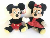 Vintage Mickey & Minnie Mouse Plush Dolls Disneyland Walt Disney World