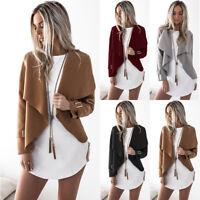 Women's Winter Wollen Coat Jacket Fashion Lapel Trench Parka Outwear Cardigan