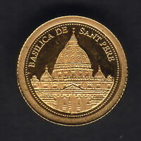 Andorra. 2008 Gold 1 Dinar.. San Pere Basilica.. 0.5grams  .999 gold.. Proof