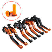 For KTM 1190 RC 8 R2016 Folding Extendable Brake Clutch Levers Grips Handle Set