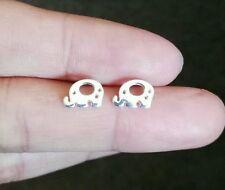 cute mini elephants ear studs earring 925 sterling silver birthday present
