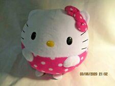 "Hello Kitty 7"" Plush Ty Beanie Babies Sanrio Round Ball Shape Pink White 2014"