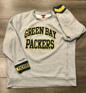 Green Bay Packers Mitchell & Ness NFL Crew Neck Pullover Sweatshirt - Size 3XL