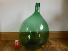 More details for antique large sicilian glass carboy bottle demijohn handblown circa 1900