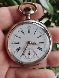 Spiral Breguet Ancre  Taschenuhr  Silber