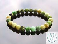 Chrysoprase Natural Gemstone Bracelet 6-9'' Elasticated Healing Stone Chakra