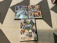 PC CD-ROM GAME THE SIMS 3 BASE + SUPERNATURAL PETS & WORLD ADVENTURES W/ CODES