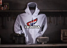 Honda Motorcycle Hoodie - Hooded Sweat Shirt - Color: Ash - Size: XL 50''
