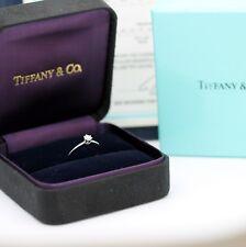 Tiffany & Co. Verlobungsring Platin 950-Gr.49 mit Box & Zertifikat 0,19 ct -VVS2