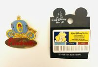 Walt Disney World LTD ED Lot Of 2 Cinderella Cast ID Series & Carriage Pins