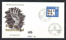 Germany BRD 1974 FDC cover Mi 814 Sc 1150 Amnesty International,prisioners hand
