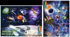GAMBIA = EXPO 2000 x2 large M/S SC#2268-69 MNH ** postfrisch SPACE & ASTRONOMY