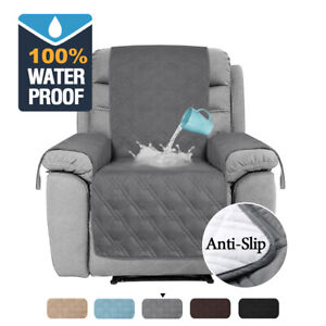 100% Waterproof Recliner Chair Cover with Non Slip Strap Slip Cover for Recliner