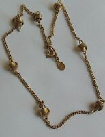 """Vintage AVON Gold Chain Twisted Gold Beaded Necklace 15"""""""