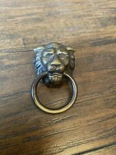 Vintage Lion Head Drawer Pull or Dollhouse Door Knocker