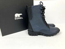 Sorel Womens 9.5 Phoenix Lace Up Boots Waterproof Collegiate Navy