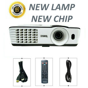 BENQ MX660P DLP Projector 3000 ANSI - New Lamp, New Chip 3D Ready HDMI bundle
