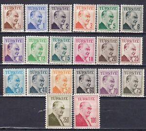 TURKEY Sc 1264 - 1283 - COMPLETE MNH SET - LOOK!
