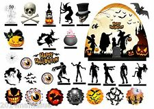 29 HALLOWEEN ZOMBIE GHOST ECT STAND UP EDIBLE CAKE SCENE WAFER RICE CARD TOPPERS