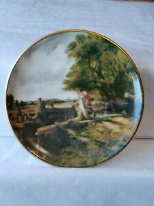 Crown Staffordshire Mini Wall Plate Plaque Marked Crown Staffs England