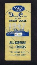DETROIT & CLEVELAND NAVIGATION CO GREAT LAKES CRUISES BROCHURE 1947
