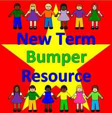 NEW TERM classroom resource pack on CD- KS1, EYFS, Year 1, 2, SEN, NQT, display