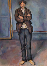 Peasant Standing with Arms Crossed by Paul Cézanne 60cm x 43cm Art Paper Print