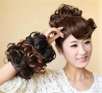 Fashion Women Lady New Pony Tail Hair Extension Bun Hairpiece Scrunchie 0021R