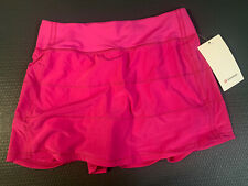 Lululemon PACE RIVAL SKIRT *TALL Sonic pink SZ 6  NWT