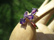 Sterling Silver Ring Purple Amethysts 349 - private estate 925