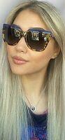New FENDI FF 0087/S CUIHD 53mm Blue Tortoise Women's Sunglasses Italy