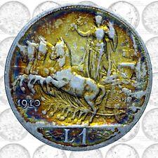 Italia - Regno - Vittorio Em. III - 1 lira 1910 Quadriga Veloce - antica patina