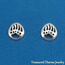 .925 Sterling Silver BEAR PAWS Southwestern Native American Post Stud EARRINGS