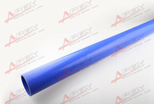 """2.75"""" (70mm) ID Straight Silicone Coolant Intercooler Hose 1M Meter Length Blue"""