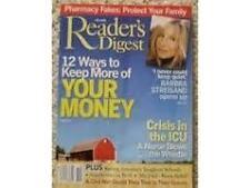 Magazine Reader's Digest August 2003 Barbra Streisand Crisis in ICU 10 Pharmacy