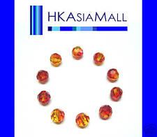 10 Swarovski Crystal Beads Round 5000 FIREOPAL 6mm