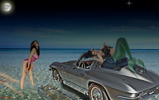 1966 Chevy Vette Corvette 1 Sport Car Vintage Classic 18 Exotic 24 Fiberglass 12