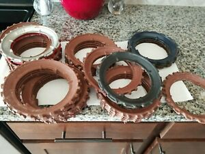 34 Vintage Cast Iron Planter seed plates h2594b h966b h2156B 2571 694 huge lot