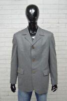 Giacca Uomo GUESS COLLECTION Taglia Size 52 Jacket Blazer Man Grigio Elastico