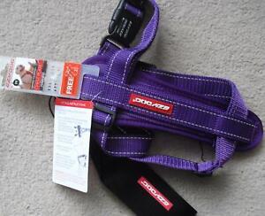 Purple EZYDOG H09MPP DOG CHEST PLATE HARNESS + Car Seat Belt Loop SIZE Medium M