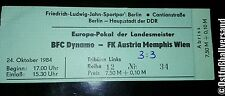 Ticket BFC Dynamo Berlin Austria Wien 24.10.84 DDR Eintrittskarte Österreich