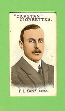 #D71. AUSTRALIAN & ENGLISH  CRICKETERS CIGARETTE CARD 1908  #68  F.L.FANE